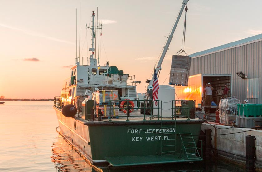 Park Service boat hauls supplies to hurricane ravaged islands