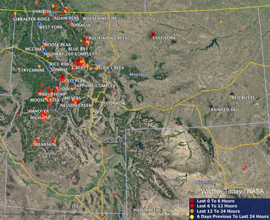 Maps of wildfires in the Northwest U.S. - Wildfire Today