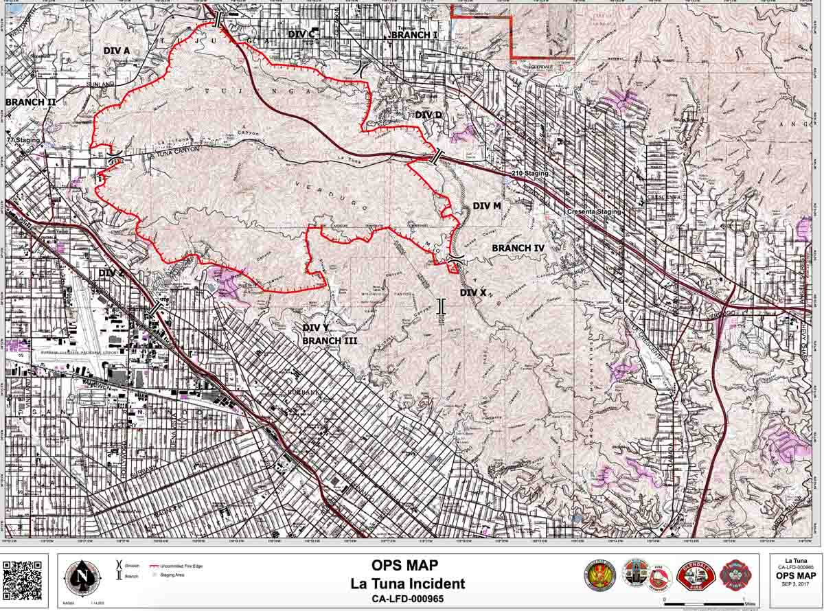 La Tuna fire map