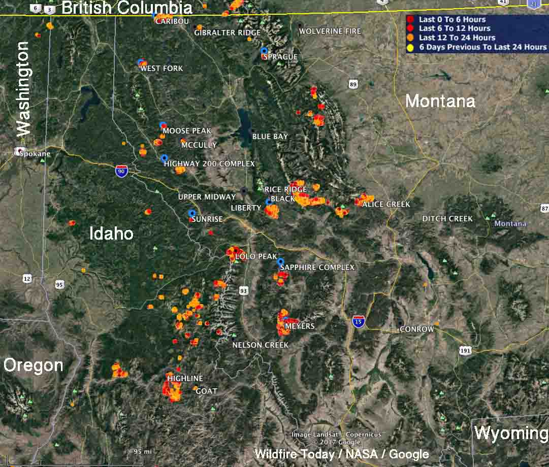 Dozens Of Wildfires Very Active In Montana And Idaho Wildfire Today