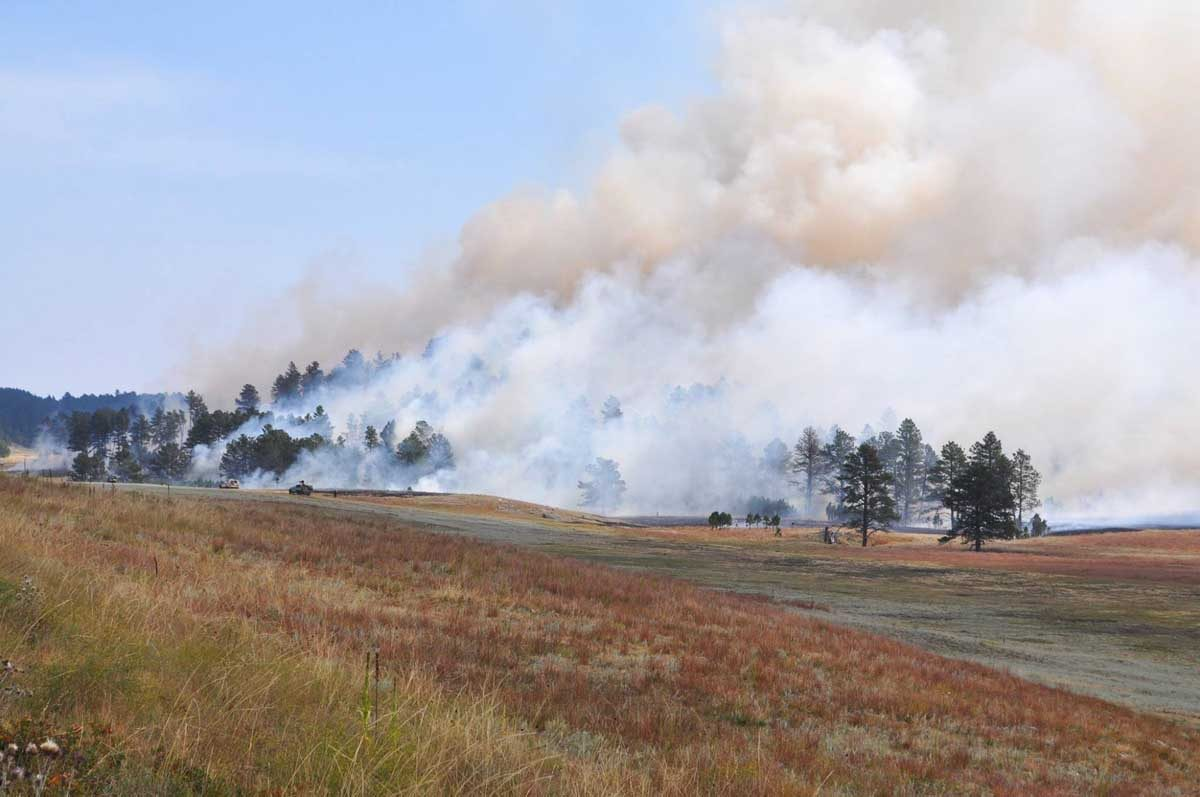 Rankin Fire burns hundreds of acres in Wind Cave NP