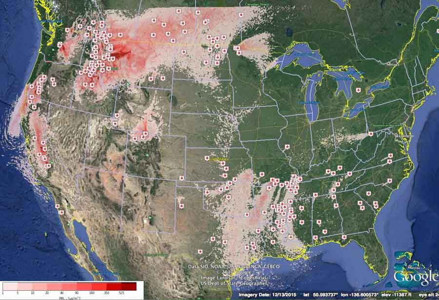 smoke map September 11, 2017 wildfire