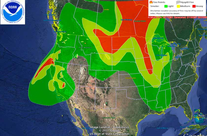 Smoke Map And Satellite Photo Of Northwest Wildfires Wildfire Today - Us wildfire map