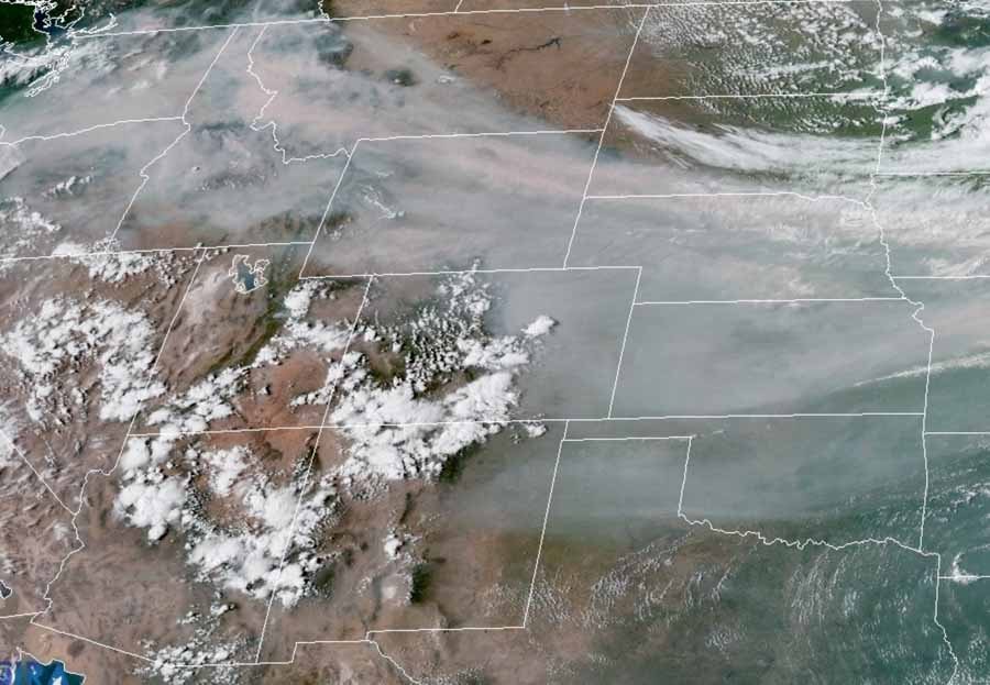 satellite photo smoke wildfire
