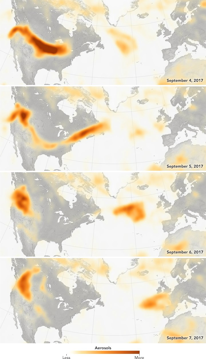 Wildfire smoke travels to Paris