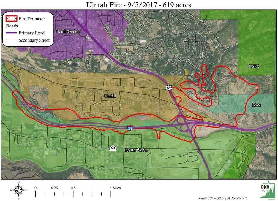 Map Uintah Fire