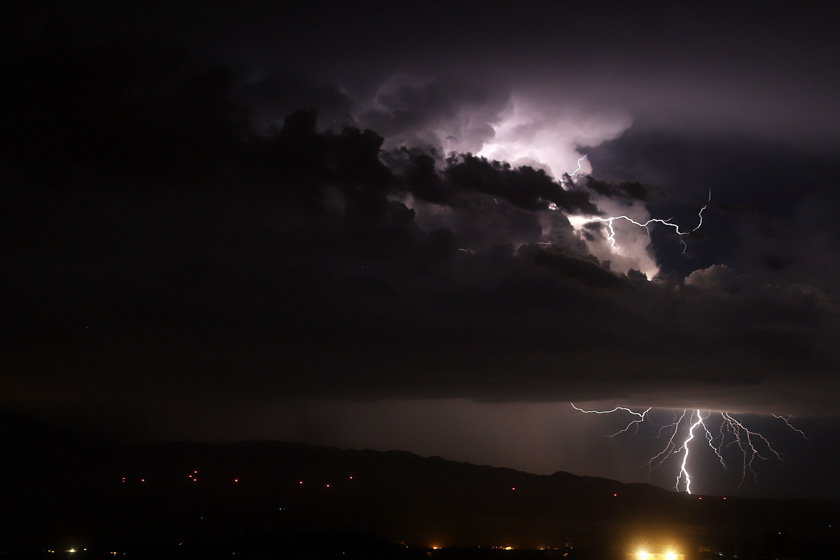 Southern California lightning