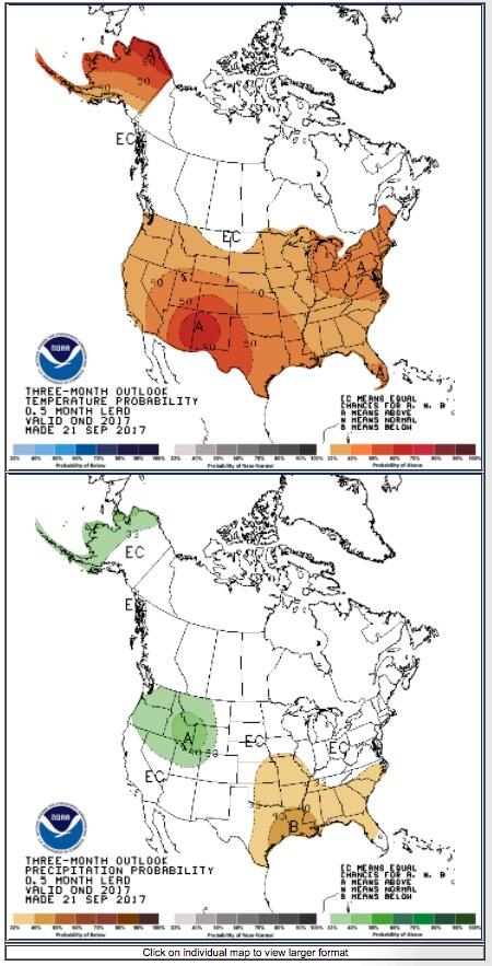 temperature 90 day outlook precipitation