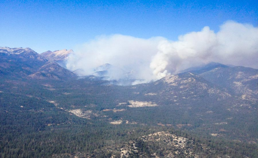 Lion Fire in Sequoia NF doubles in size