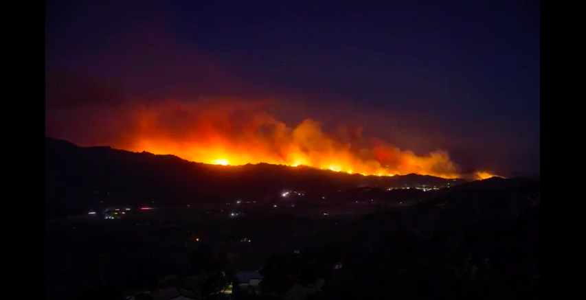 Wildfires erupt overnight in California's wine country