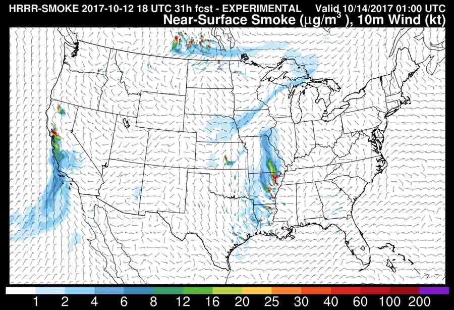 map wildfire smoke forecast