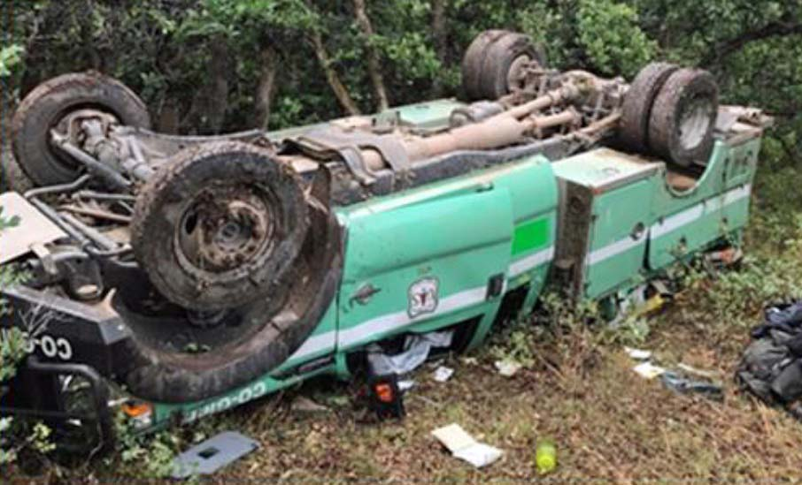 Forest Service fire engine rollover accident