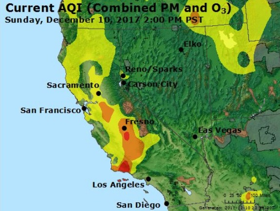 Thomas Fire smoke air quality