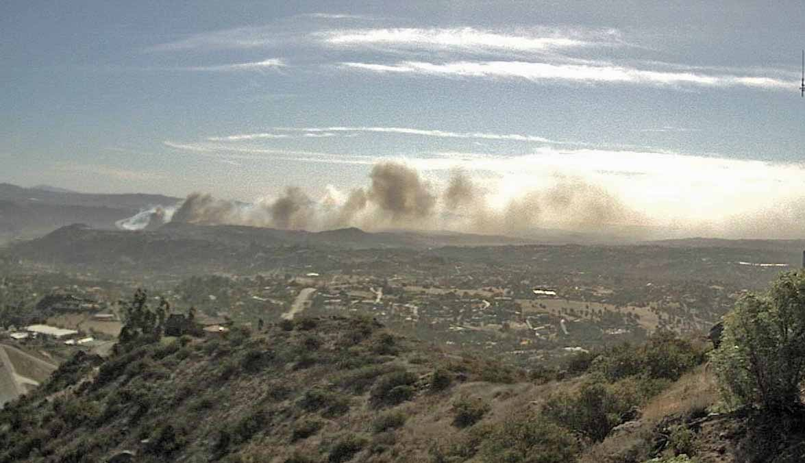 Fire in San Diego County triggers evacuations