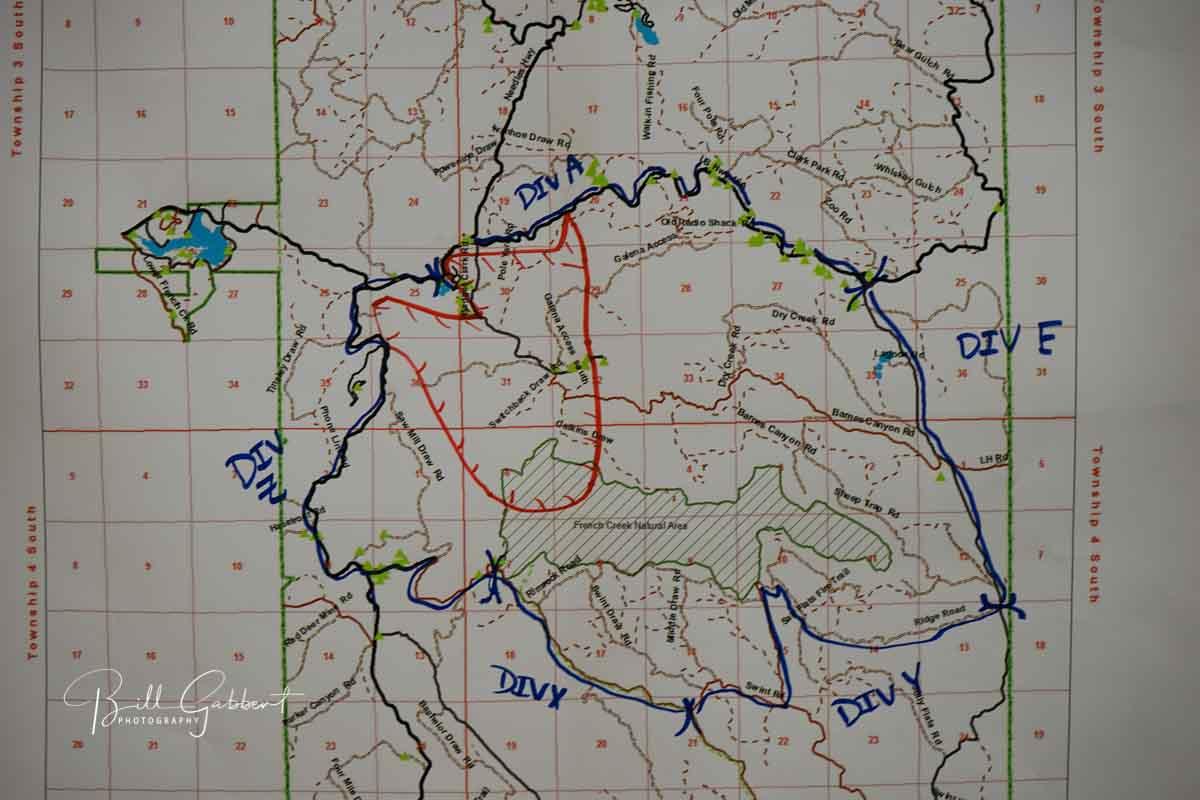 map Legion Lake Fire