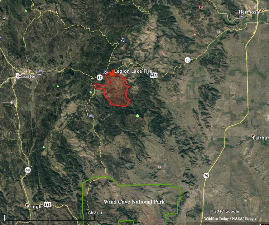 Legion Lake Fire fire south dakota
