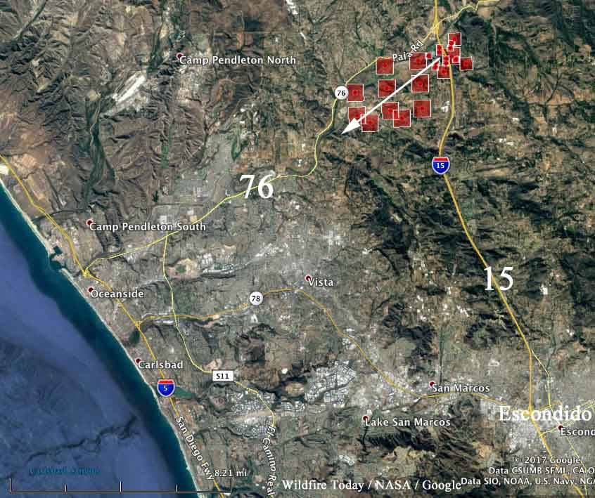 Lilac Fire Map Updated >> Lilac Fire - a new fire in San Diego County - Wildfire Today
