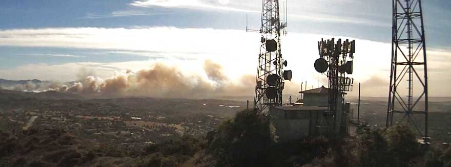 Lilac Fire — a new fire in San Diego County