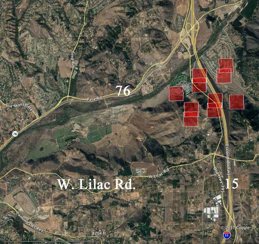 Lilac Fire Live >> Lilac Fire - a new fire in San Diego County - Wildfire Today