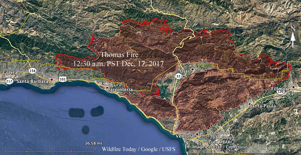 map Thomas Fire december 17 2017