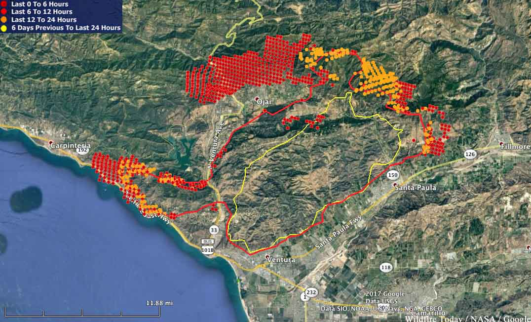 Ventura county fire in California burns 65000 acres