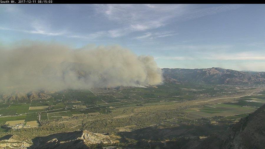 thomas fire photo south mountain