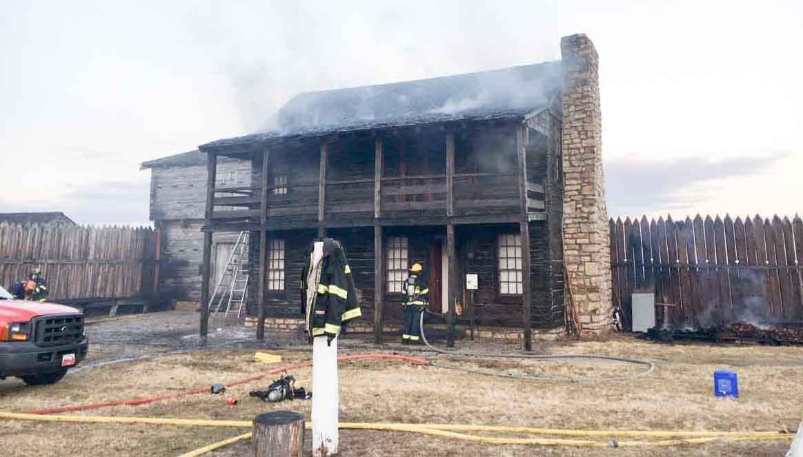 wildfire Fort Osage National Historic Landmark
