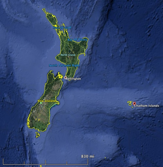 Chatham Islands map new zealand