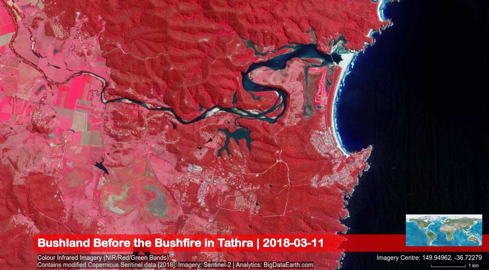 map tathra NSW wildfire homes destroyed