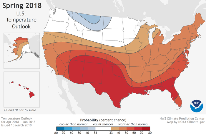 NOAA report: Warmer-than-average spring, worsening drought ...