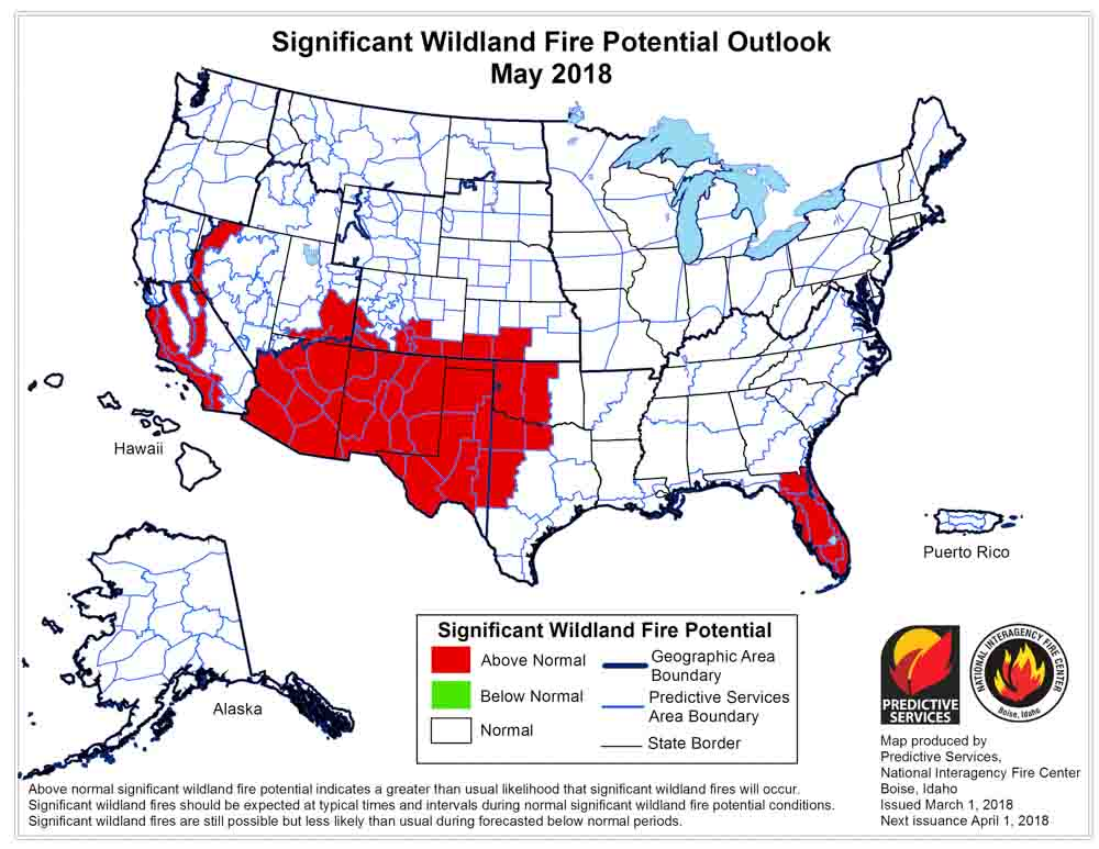 May wildfire outlook weather
