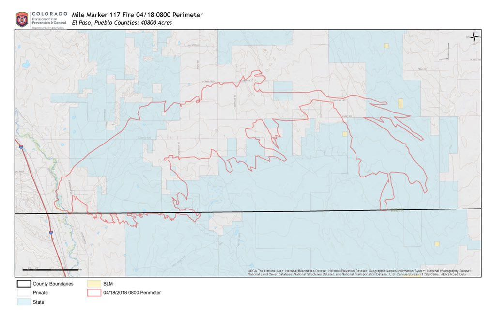 Map of the 117 Fire