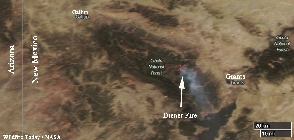Diener Fire New Mexico wildfire