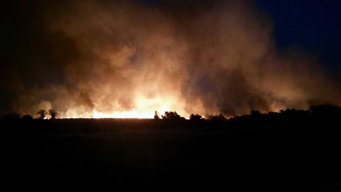 Crews battle wildfires in southwestern Kansas