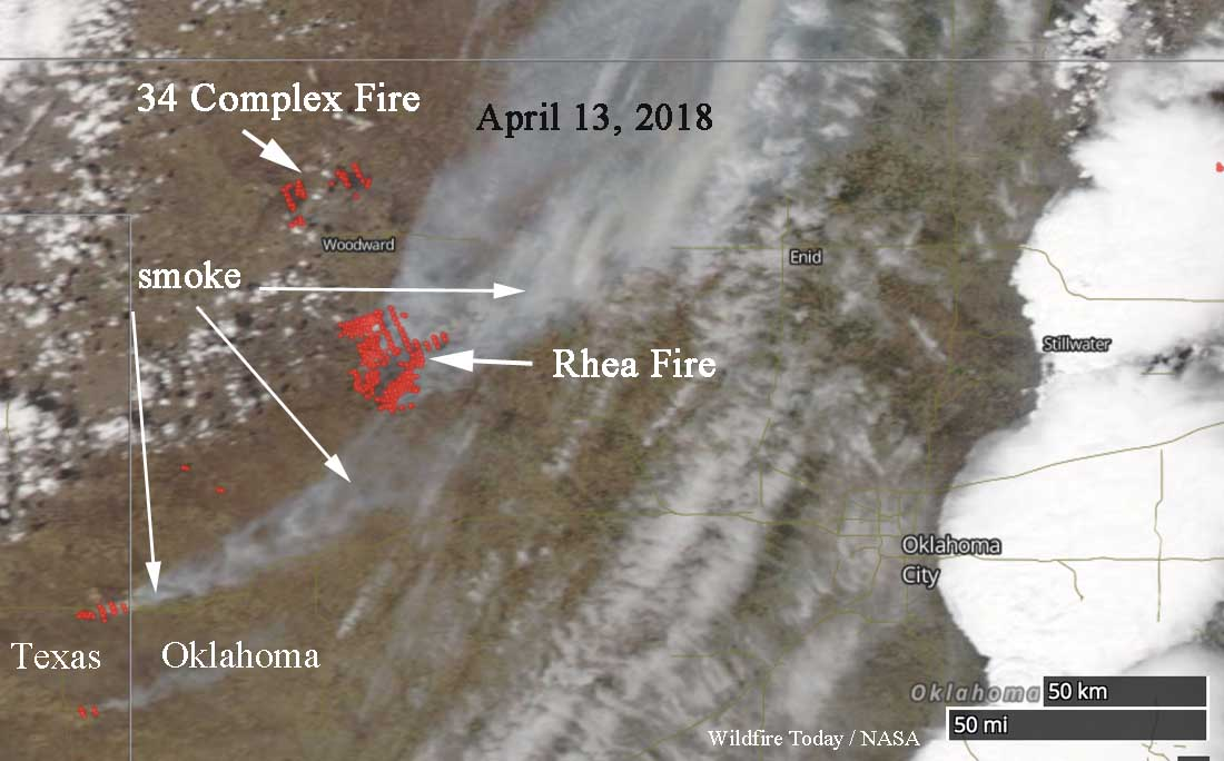 Fatality on wildfire in Oklahoma