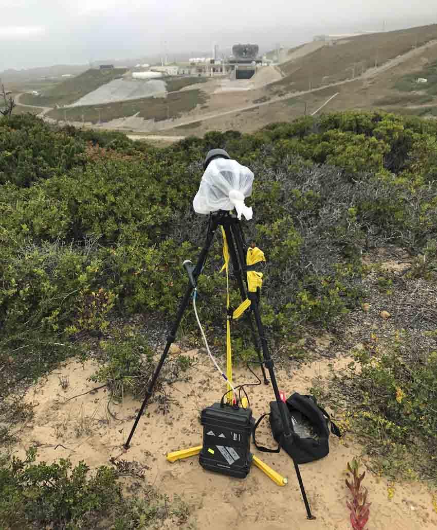 rocket launch brush fire melts NASA camera