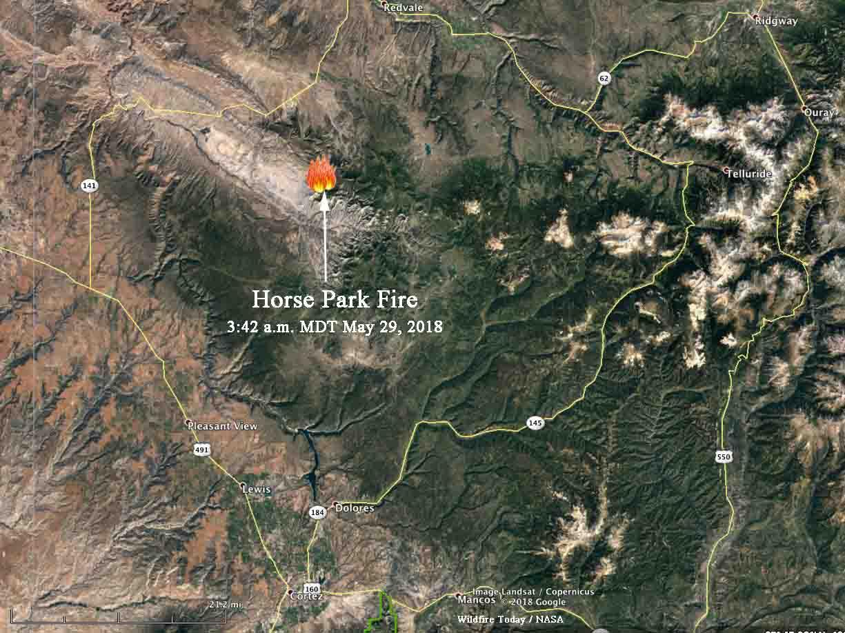 Horse Park Fire map