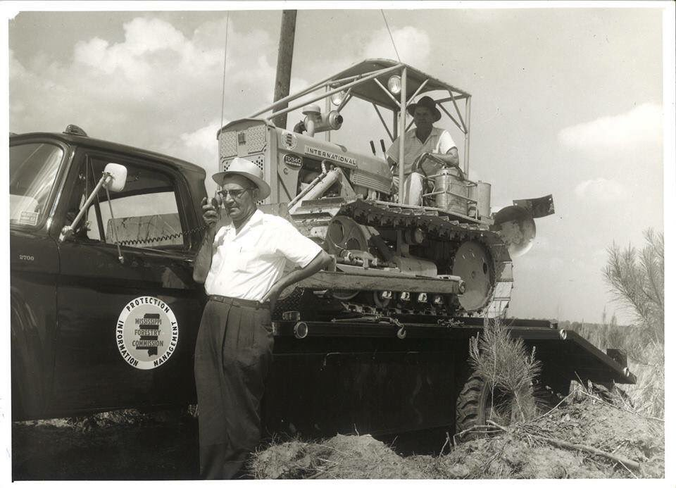 Mississippi Forestry Commission fire tractor plow