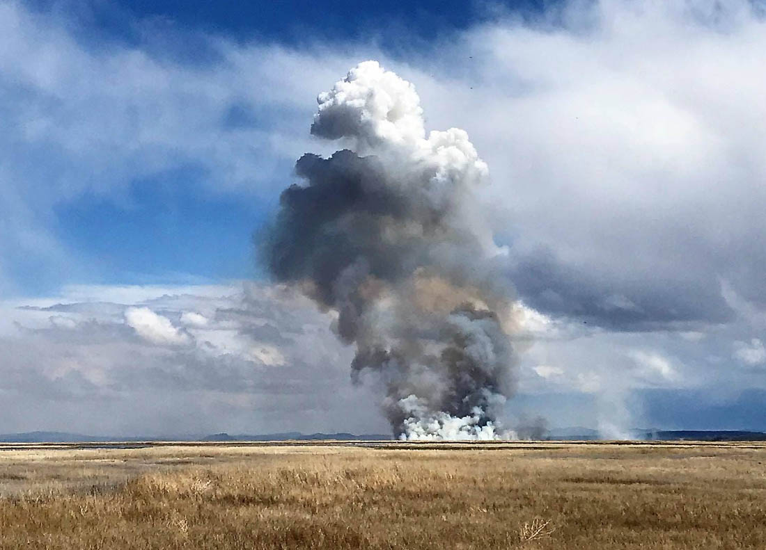 1,500-acre fire at Malheur NWR