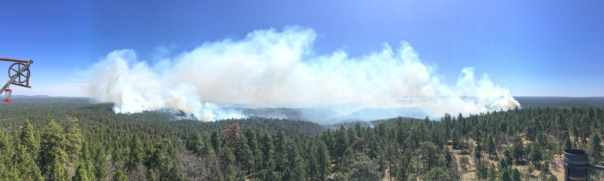Tinder Fire continues to grow northeast of Payson, AZ