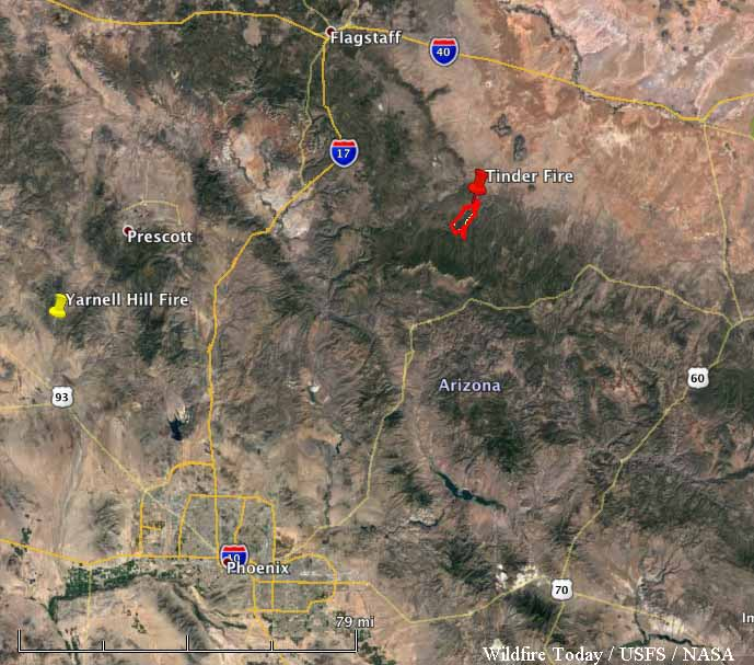 Arizona's Tinder Fire grows to 11420 acres