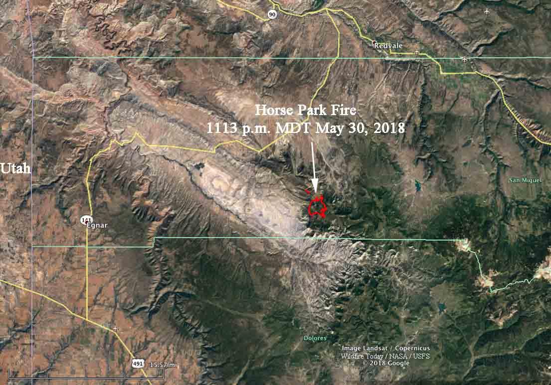 map Horse Park Fire