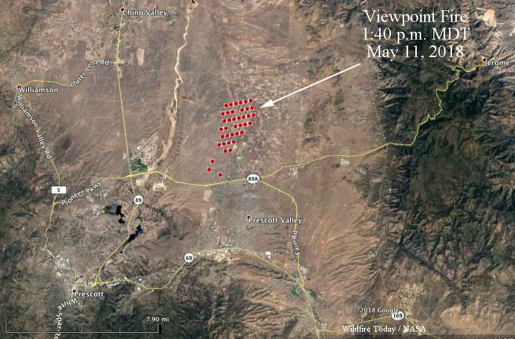 Viewpoint Fire burns thousands of acres north of Prescott Valley