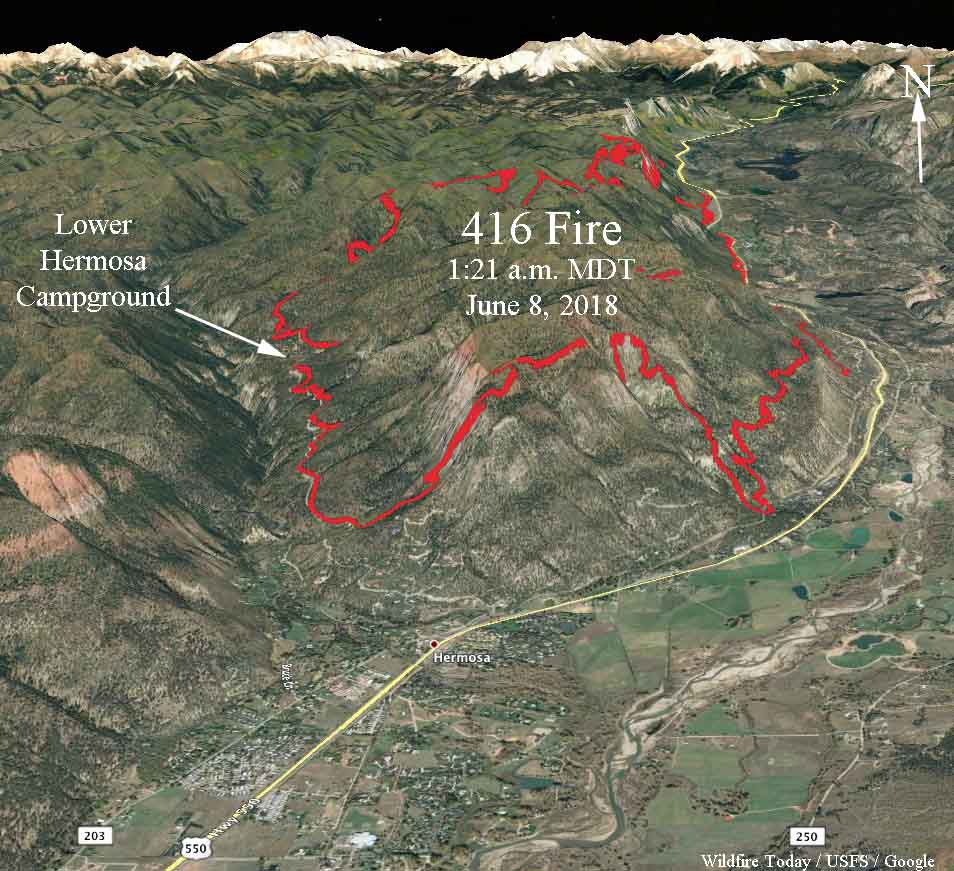 3-D map 416 Fire