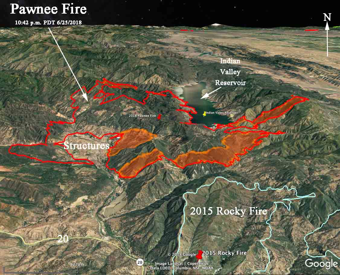 3-D Map perimeterPawnee Fire