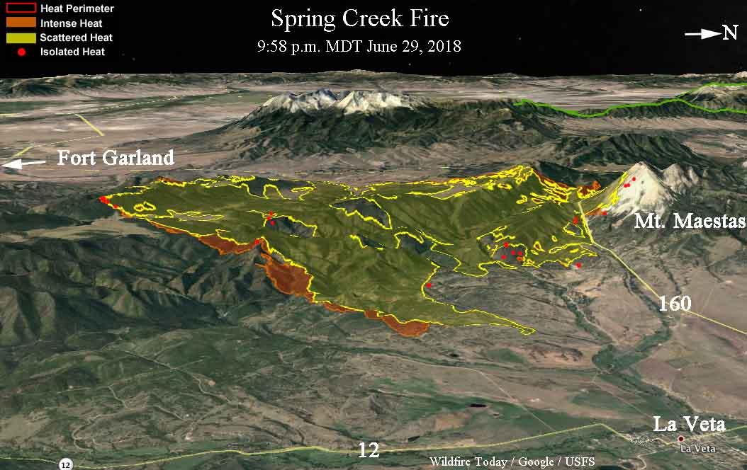 3-D map Spring Creek Fire