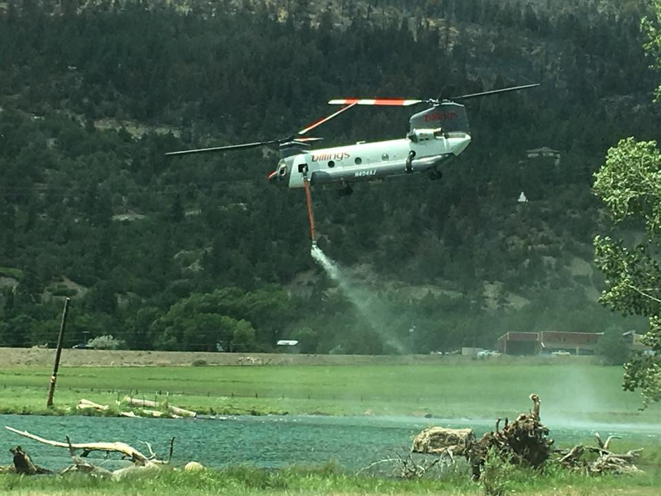 416 Fire chinook helicopter