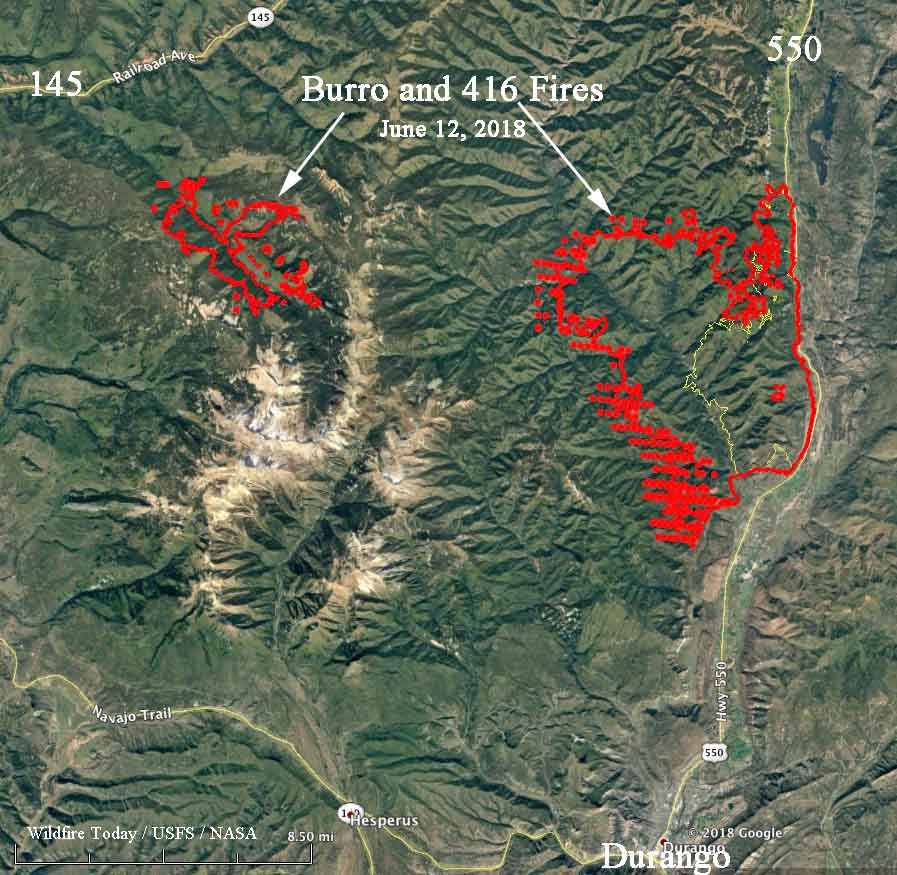 map burro fire 416 wildfires
