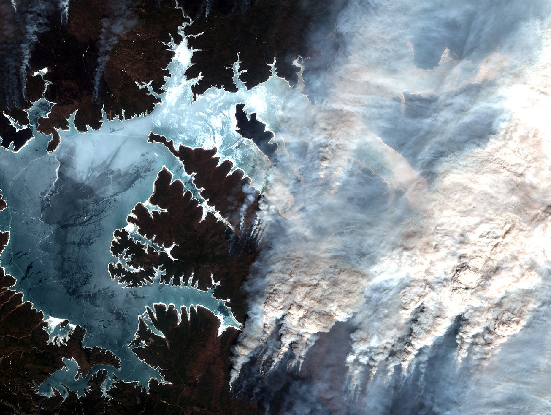 ESA satellite photo wildfire siberia
