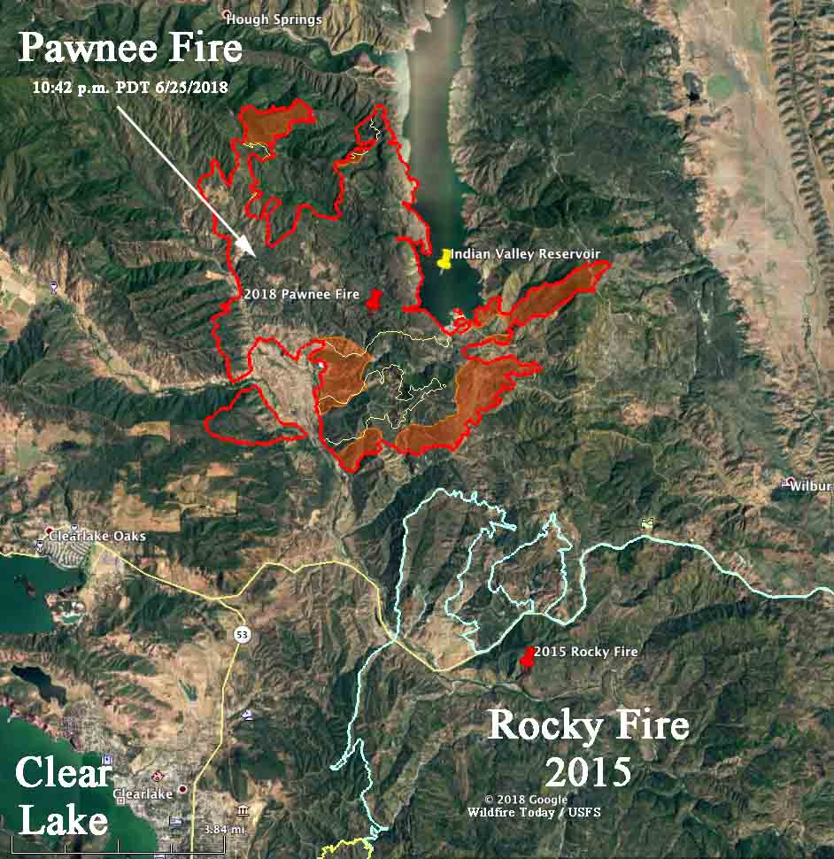 Map perimeterPawnee Fire